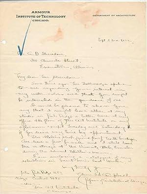 Autograph Letter Signed.: CAMPBELL, Edmund S. (1884-1950).