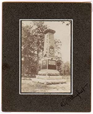 Chickamauga Monument Photograph.: 21st WISCONSIN INFANTRY -- CIVIL WAR -- TILLINGHAST, A.R.).