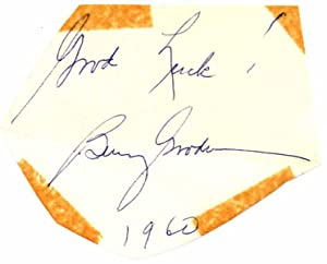 Signature and Inscription / Unsigned Photograph.: GOODMAN, Benny (1909-86).