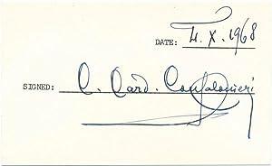 Signature: CONFALONIERI, Carlo Cardinal (1893-1986)