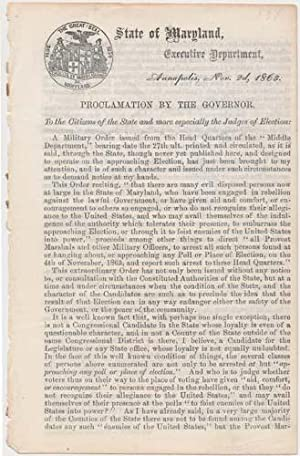 Proclamation by the Governor: BRADFORD, Augustus W.
