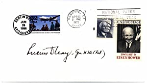 Signed Postal Cover / Unsigned Photograph.: CLAY, Lucius D. (1897-1978).