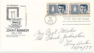 Signed First Day Cover.: ARATA, Lawrence J.