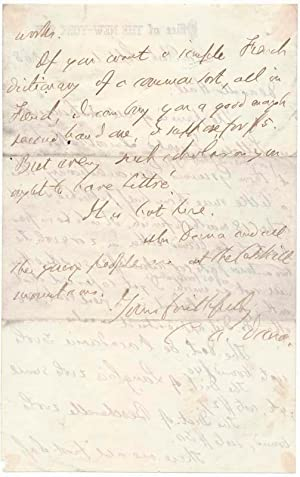 Autograph Letter Signed.: DANA, Charles Anderson (1819-97).