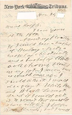 Autograph Letter Signed: GREELEY, Horace (1811-72)