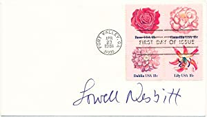 Signed First Day Cover.: NESBITT, Lowell (1933-93).
