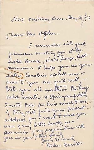Autograph Letter Signed: BURRITT, Elihu (1810-79)
