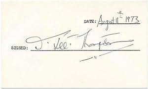 Signature.: THOMPSON, J. Lee (1914-2002).