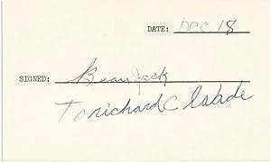 Signature and Inscription.: JACK, Beau (1921-2000).