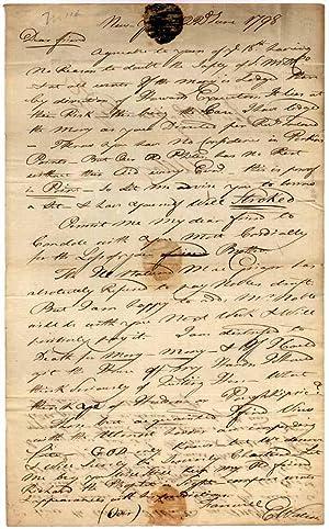 Autograph Letter Signed: WATSON, Elkanah (1758-1842)