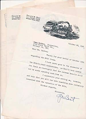 Typed Letters Signed (4): BEST, Gerald M. (1895-1985)