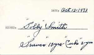 Signature and Inscription.: SMITH, Robert E.