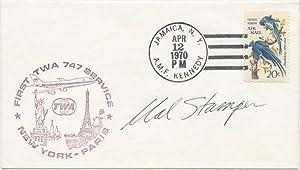 Signed Postal Cover.: STAMPER, Malcolm T. (1925-2005).