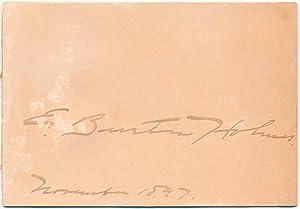 Signature.: HOLMES, E. Burton (1870-1958).