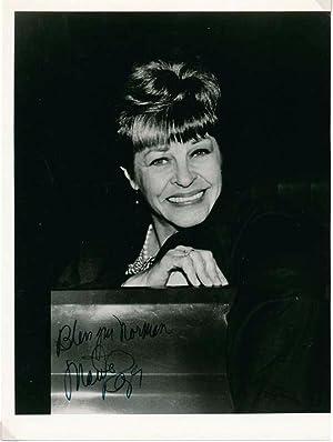 Inscribed Photogaph Signed.: RAYE, Martha (1916-94).