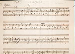 Autograph Musical Quotation Signed: SALAMAN, Charles (1814-1901)