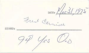 Signature.: CARISCH, Fred (1881-1977).