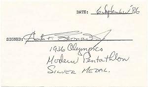 Signature: LEONARD, Charles F. (1913-2006)