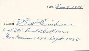 Signature.: ERICKSON, Bill (?-1987).