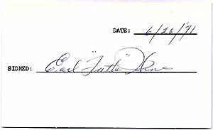 Signature.: HINES, Earl