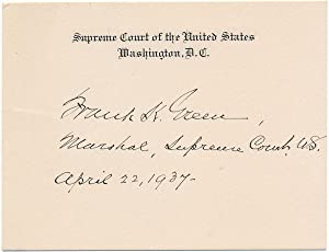 Signature.: GREEN, Frank K. (?-?).