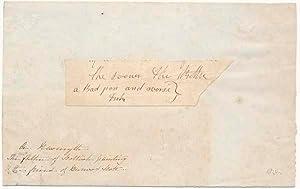 Autograph Fragment (unsigned): NASMYTH, Alexander (1758-1840)