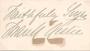 Signature.: LESLIE, Frank (1821-80).