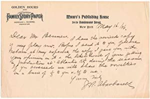 Autograph Note Signed.: ABARBANELL, J.R. (1852-1922).