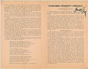 Signed Pamphlet: BRICKNER, Barnett R. (1892-1958)