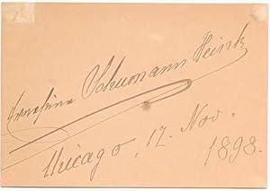 Signature: SCHUMANN-HEINK, Ernestine (1861-1936)