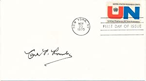 Signed First Day Cover / Unsigned Photograph: ROMULO, Carlos P. (1899-1985)