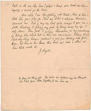Autograph Manuscript (unsigned).: SOUTHEY, Robert (1774-1843).