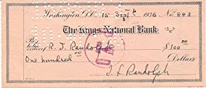 Partly-Printed Autograph Document Signed: RANDOLPH, Jessie Harlan Lincoln (1875-1948)