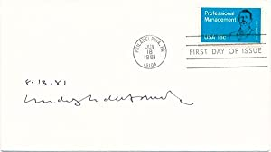 Signed First Day Cover: de HARAK, Rudolph (1924-2002)