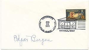 Signed Postal Cover: BERGEN, Edgar (1903-78)