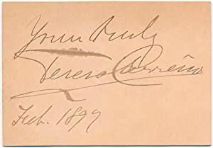 Signature and Inscription.: CARREÑO, Teresa (1853-1917).
