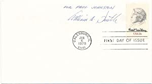Signed First Day Cover.: SMITH, William A. (1918-89).