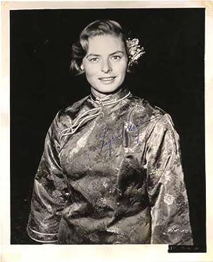 Photograph Signed.: BERGMAN, Ingrid (1915-82).