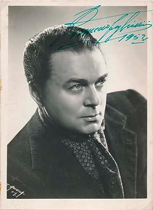 Photograph Signed.: TAGLIAVINI, Ferruccio (1913-95).