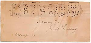 Autograph Musical Quotation Signed.: LIEBLING, Emil (1851-1914).