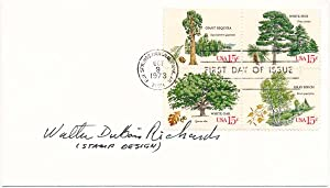 Signed First Day Cover.: RICHARDS, Walter DuBois (1907-2006).