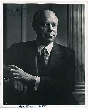 Photograph Signed: TAFT, Martha Wheaton Bowers (1891-?), and TAFT, Robert, Jr. (1917-93)