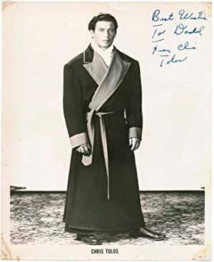 Inscribed Photograph Signed.: TOLOS, Chris (1929-2005).