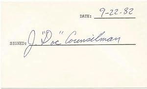Signature: COUNSILMAN, James E.