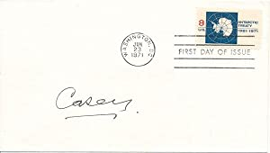 Signed First Day Cover: CASEY, Richard G., Baron (1890-1976)