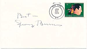Signed Postal Cover.: BURNS, George (1896-1996).