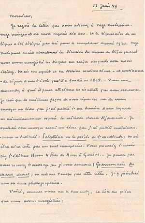 Autograph Letter Signed: SAMSON, J. (?-?)