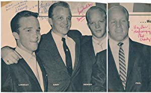 Inscribed Photograph Signed.: CROSBY BROTHERS). CROSBY, Dennis (1934-91), CROSBY, Gary (1933-95), ...