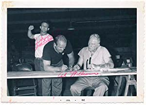 Photograph Signed: GILBERT, Johnny (?-1990) and WILLIAMS, Al (?-?)