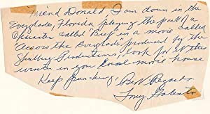 Autograph Note Signed: GALENTO, Tony (1909-79)